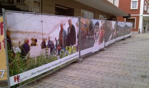 Werbeplanen in der hauzenberger Innenstadt